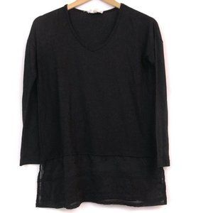 CLOUD CHASER Black Lace Embroidered Long Sleeve XS